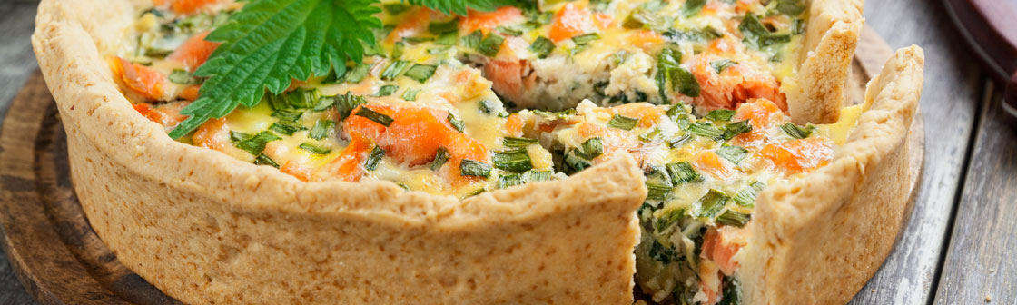 Fish pie with vegetables