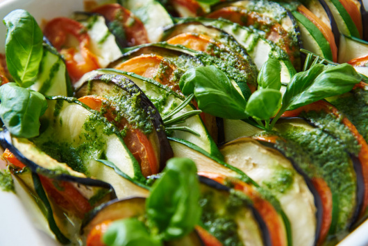 Ratatouille with mozzarella