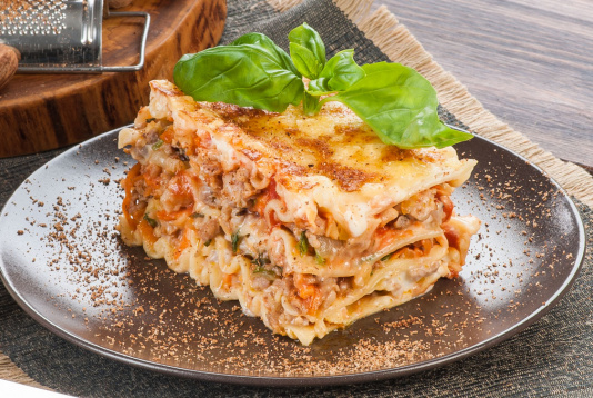 Lasagna with mince