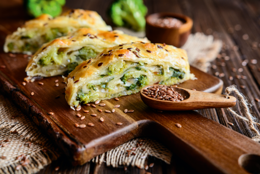 Strudel with broccoli