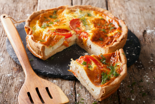 Cheese pie with vegetables